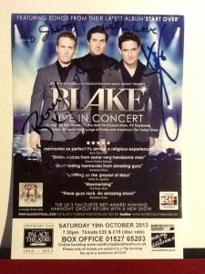 My Blake autographs